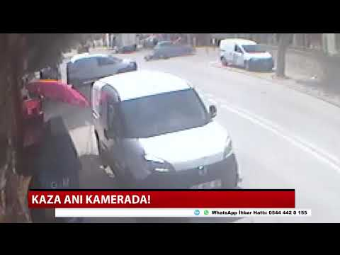 Kaza anı kamerada!