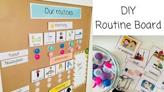 Getting your children into a routine - DIY Routine Board