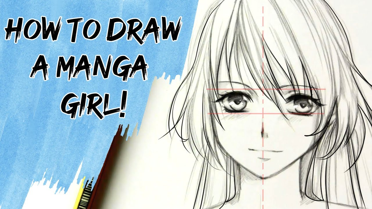 How to draw a manga girl (slow tutorial)