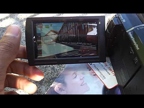 Sony HDR XR 260 HD test with smooth slow record  handycam and unboxing photo test