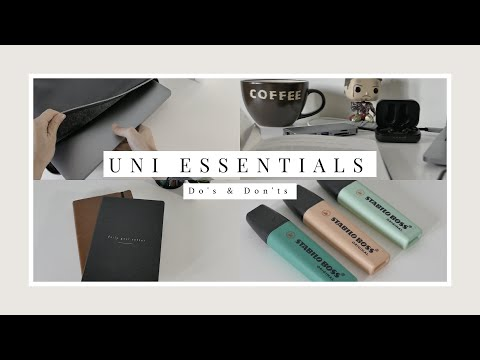 Uni Essentials: Do's & Don'ts (Apple Watch?/Stationary/Apps)