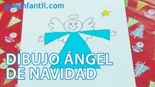 Cómo dibujar un angelito de Navidad con los niños