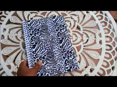 Encapando Caderno com Tecido/ Volta as Aulas