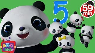 Five Little Pandas Jumping on the Bed | +More Nursery Rhymes & Kids Songs - Cocomelon (ABCkidTV)