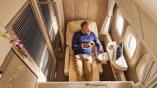 Emirates Boeing 777 new First Class Dubai to Brussels (AMAZING!)