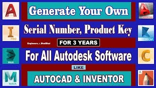 How to Generate Serial No. & Product Key of Any Autodesk Product | Free 3-Year Student License
