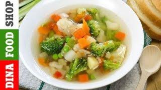 Суп из брокколи и кабачков