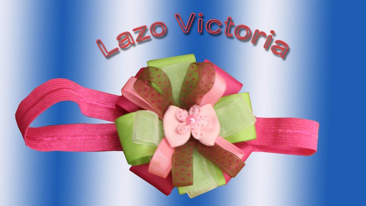 Como hacer lazos y cintillos: Lazo Victoria