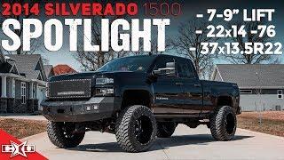 "HUGE 2014 SILVERADO SPOTLIGHT! || 7-9"" Lift, 22x14's, & 37's!"
