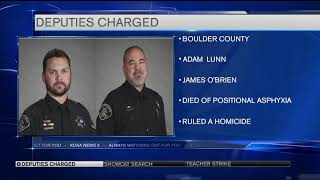 Boulder County Sheriff's Deputies charged with manslaughter in man's death