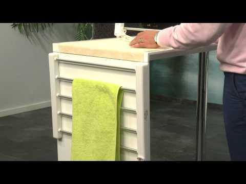 Sichler Haushaltsgeräte Elektrisch beheizbarer Handtuchwärmer