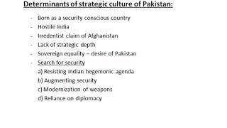 Strategic culture of Pak