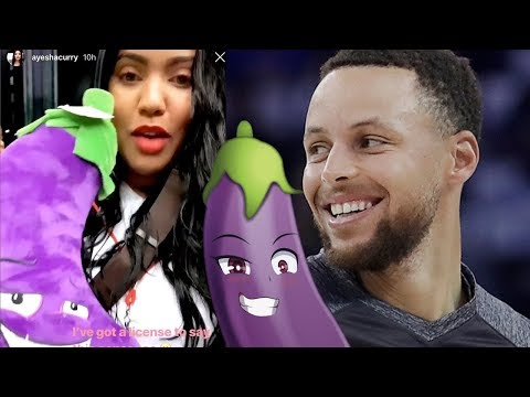 Ayesha Curry BEGS Steph Curry For His Eggplant And His Reaction is PRICELESS (видео)