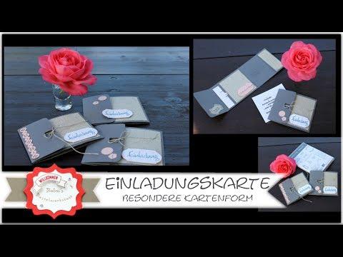 Besondere Kartenform - Einladungskarte - Taschenkarte - Stampin´Up! - Kreativität verbindet