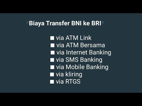 Biaya Transfer BNI ke BRI