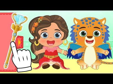 BEBE ALEX Y LILY Se disfrazan de ELENA DE AVALOR | Disfraz de Disney Princesas | Dibujos educativos