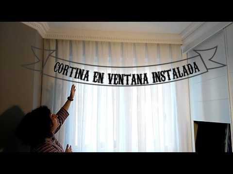 Instalar cortinas y rieles www. cortinasymas .com