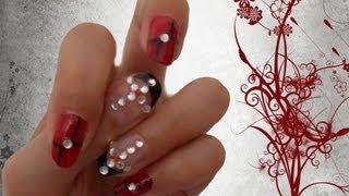 Nail Art Gothic Bride Semplice Con Smalti O Gel Uv Ottima Per Halloween Collaborazione Cn Ele4ful