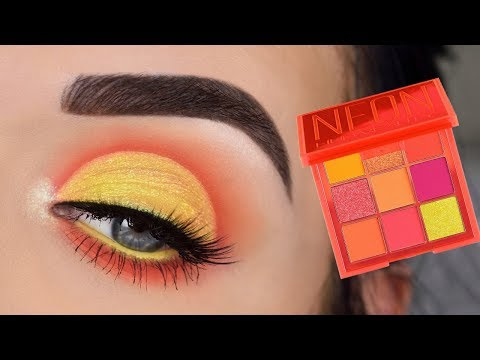 Huda Beauty NEON Orange Obsessions Palette | Eye Makeup Tutorial