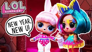 LOL Surprise! | Stop Motion Cartoon | New Year, New U! #Hairgoals