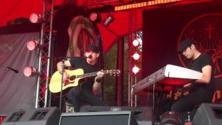 Dommin,My Hearts Your Hands Acoustic,Jager Stage,Download Festival 2010
