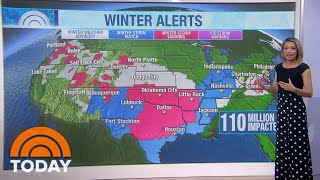 2 Winter Storms Could Impact 110 Million With Snow, Rain And Ice | TODAY