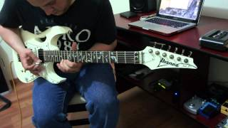 Cover Guitar Solo The Moon and I Naked Steve Vai by Salvador Esqueda
