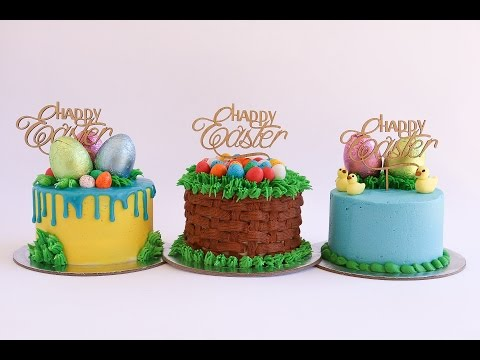 Video Mini Easter Themed Cake Tutorial- Rosie's Dessert Spot