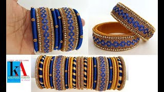 How to make Designer Checker Model Bridal Bangles Set at home
