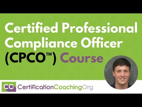 Certified Professional Compliance Officer (CPCO™) Course | CCO ...