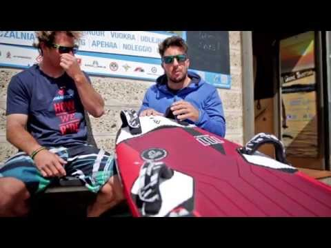 Daniel Aeberli and Marco Lang talking about set up and tuning of the Fanatic Falcon board