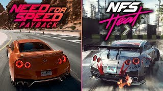 Need for Speed HEAT GAMEPLAY vs Payback - Car Sounds Comparison, Graphics and More!