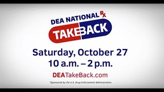 DEA Drug Take Back at KPD HQ Saturday, October 27 10am-2pm
