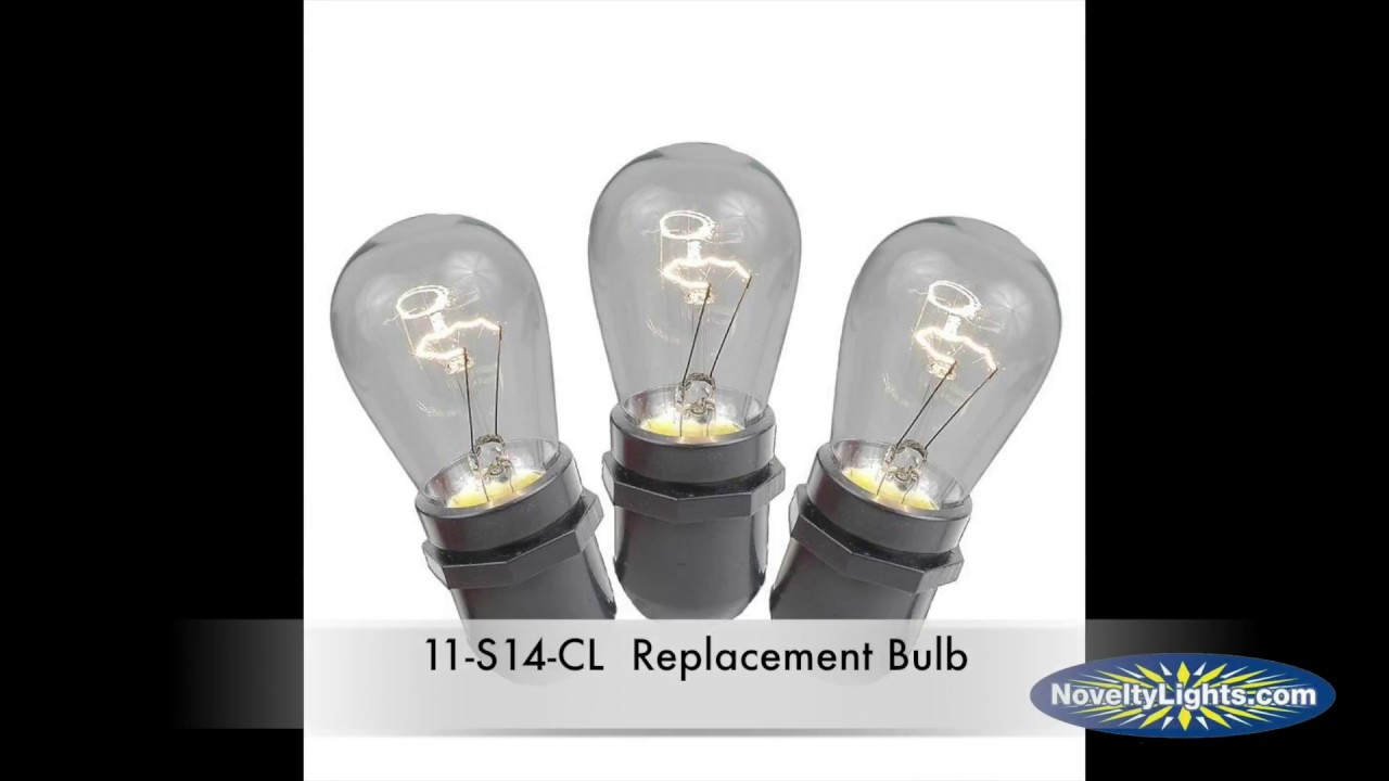 Picture of 25 Pack of Clear S14 11 Watt Bulbs Medium Base e26 *SALE*