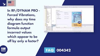 FAQ 004342 | In RF-/DYNAM PRO - Forced Vibrations, why does my time diagram function formula outp...