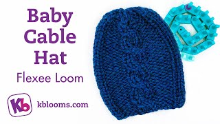 Baby Cable Hat on Flexee Loom