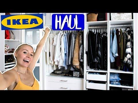XXL Ikea Haul! PAX Kleiderschrank Tour, Aufbewahrung & Mehr!