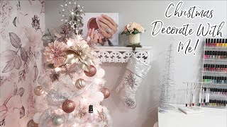 Decorating the Nail Studio for Christmas!   Decorate With Me   Vlogmas Day 2