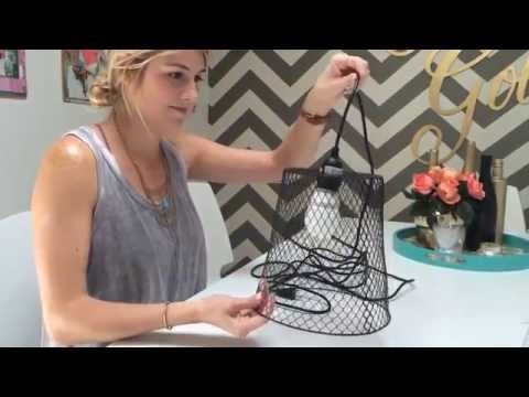 DIY Basket Hanging Light
