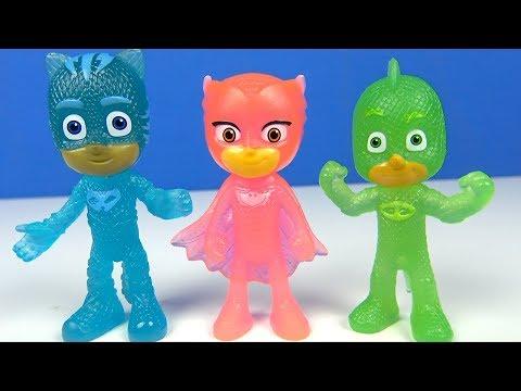 Pijamaskeliler karanlıkta parlayan figürler Pijamaskeliler karargahı dönüştürme oyunu Romeo Ay Kızı