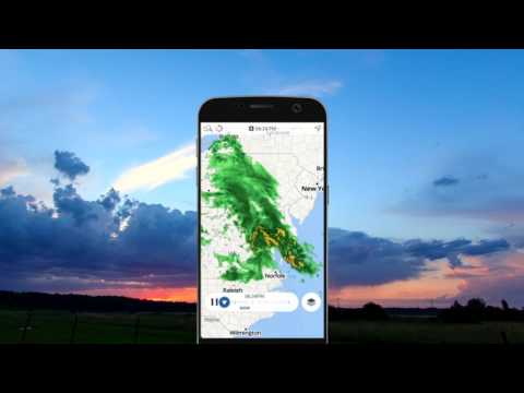 Storm Radar: Weerkaart video