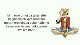 One Piece Op - Hope   Cover By Raon Lee (Lyric)