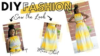 DIY Fashion | Sew The Look: Maxi Skirt & Halter Top