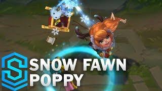 Snow Fawn Poppy Skin Spotlight - League of Legends