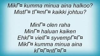 Apulanta - 009 Lyrics