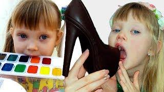 Настя и игры для детей про вредные сладости и конфеты