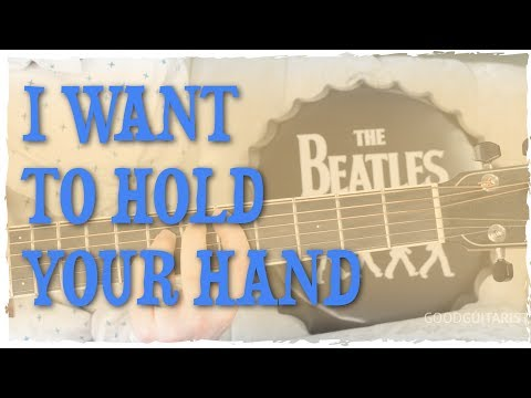 """""""I Want To Hold Your Hand"""" Guitar Tutorial - Simple Strummer Uses Lots of Basic Chords 