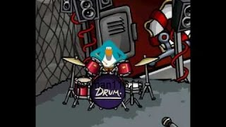 how 2 play drums in club penguin 2011 | HD