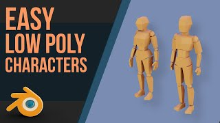 Create A Low Poly Person | Blender 2.8 | Beginners & Intermediate