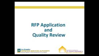 2018 Access Centers and Access Points RFP—Mandatory Proposers Conference